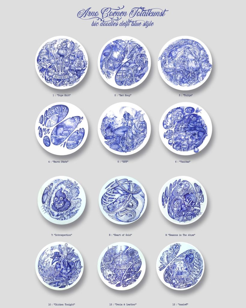 Arno Coenen Delfts Blauw Stijl